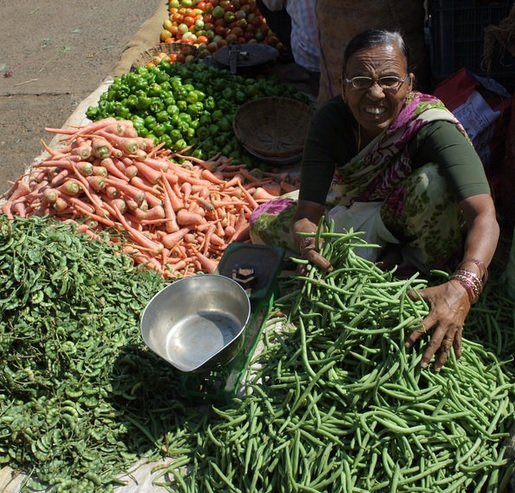 Produce market in India