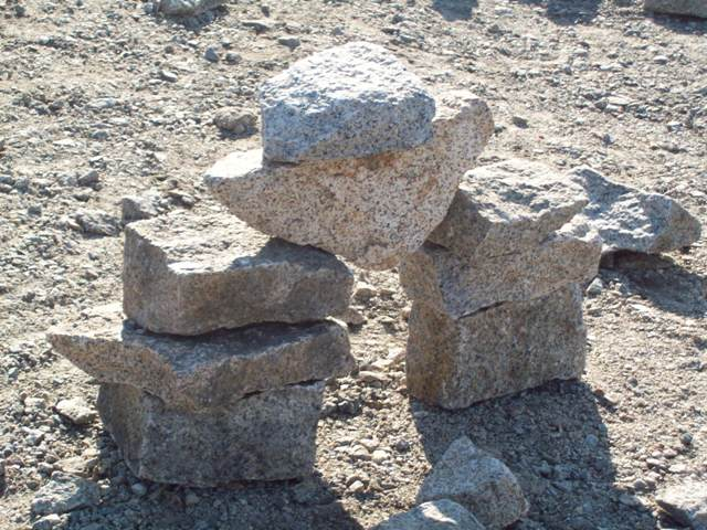 Balanced rocks on the North Shore in Massachusetts