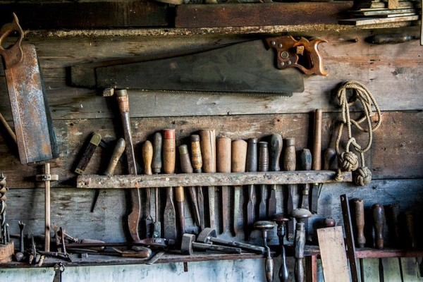 Tools on wall